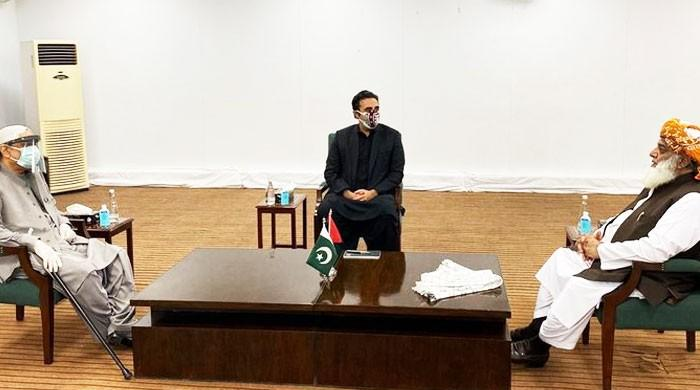 فضل الرحمان کی بلاول  اور آصف علی زرداری سے ملاقات