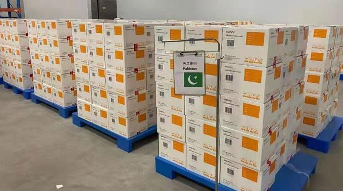 چین سے کورونا ویکسین کی مزید 11 لاکھ سے زائد خوراکیں پاکستان پہنچ گئیں